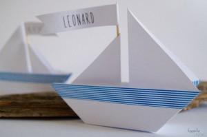 Segelboot Papierschiff DIY
