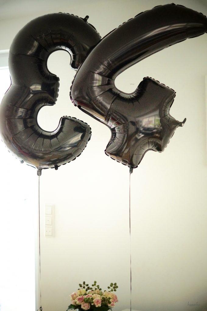 Folien-Ballon Zahl schwarz Geburtstag Ballon