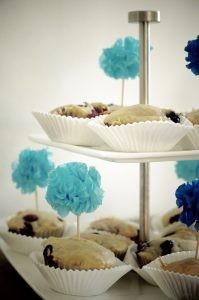 Kindergeburtstag Muffins mit DIY PomPom