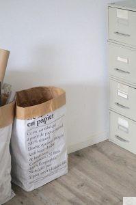 kleinen Arbeitsplatz umgestalten - Le sag en papier