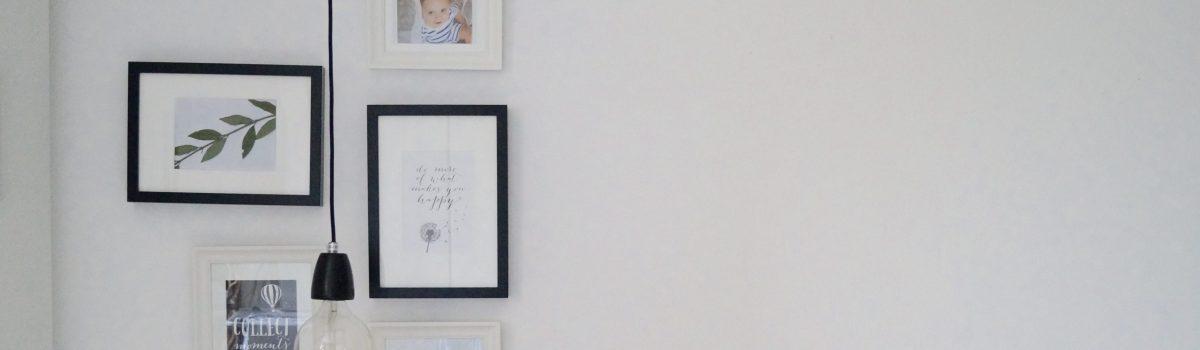 Meine Wandgalerie im Schlafzimmer lädt zum Träumen ein