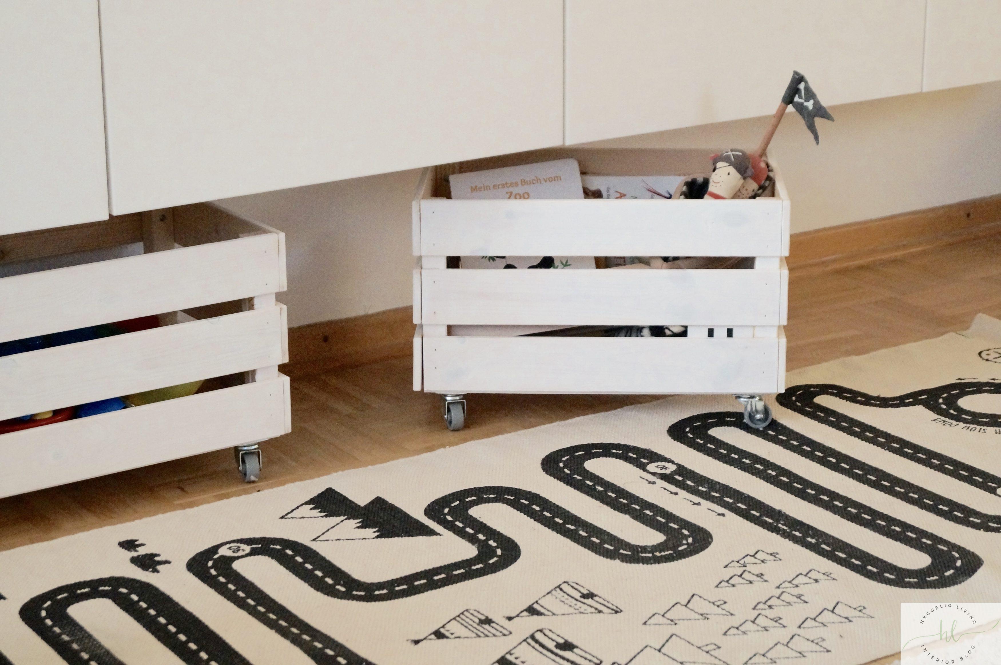 Spielzeugkiste DIY IKEA Holz