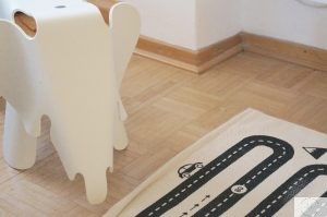 Spielzeugkiste DIY IKEA Holz Eames Elefant weiß
