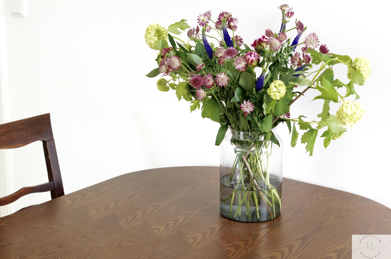 Wiesenstrauß DIY selbst gemacht Blumen Strauß