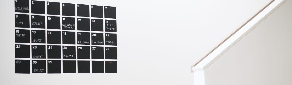 DIY – Der ewige Wandkalender